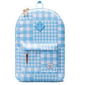 New Herschel Heritage Gingham Blue Backpack